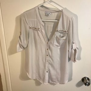 BEBE White button up